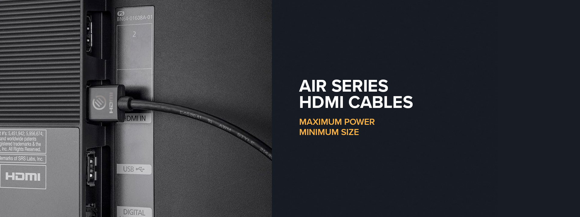 Air series super slim flexible HDMI cable